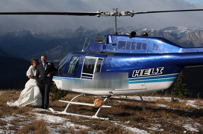 Private tour canadian rockies romance helicopter tour in banff 104970