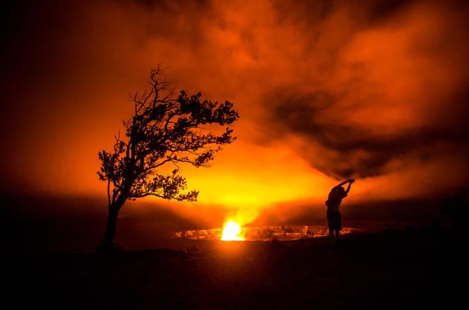 Kilauea Hike and Glow from Kona