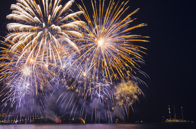 Private Luxury Yacht Fireworks Cruise from Cannes with Personal Skipper