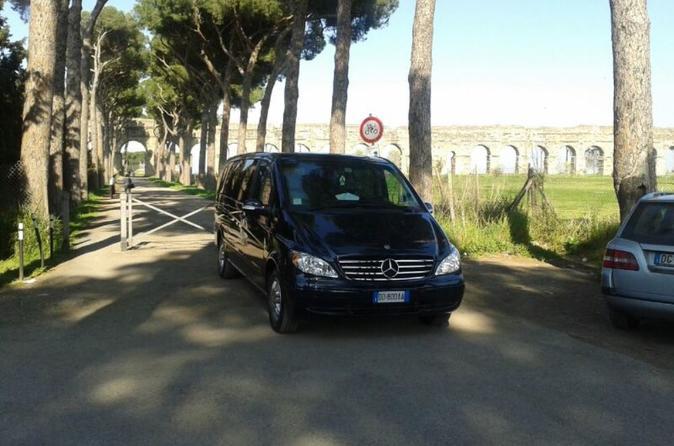 Trasferimento privato all'arrivo: dall'aeroporto di Roma Fiumicino all'hotel
