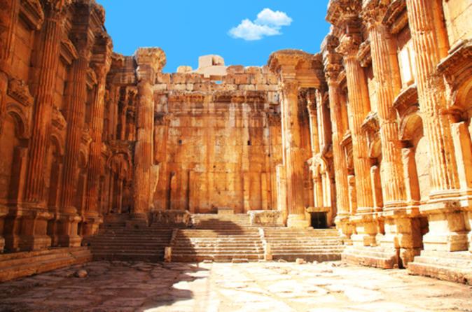 Excursão particular: viagem diurna em Anjar, Baalbek e Ksara saindo de Beirute