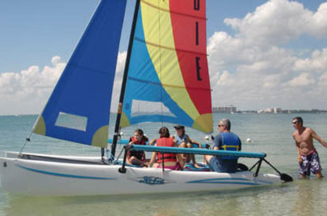Miami Catamaran Sailing Lesson Or Boat Rental In Biscayne Bay In