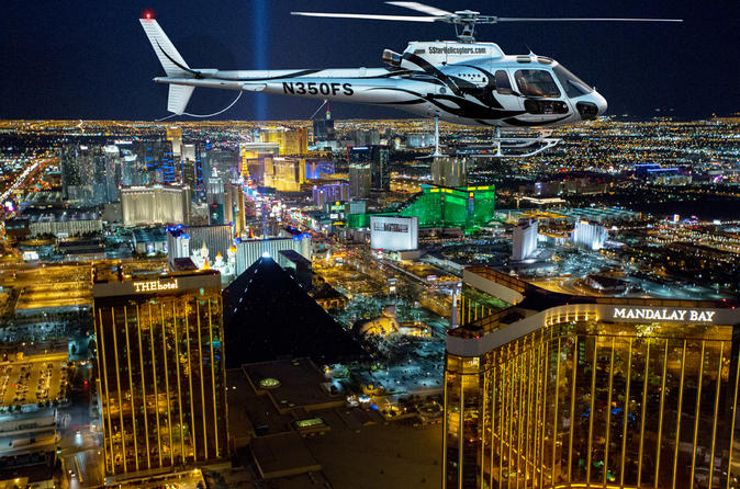 Deluxe las vegas helicopter night flight with vip transportation in las vegas 146671