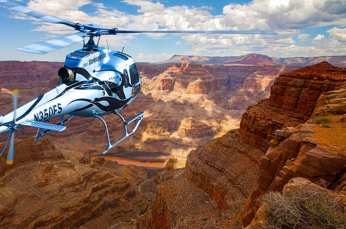 Extended Grand Canyon West Rim AirOnly Helicopter Tour 2017  Las Vegas