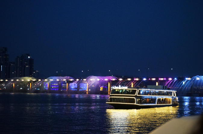 Han River Ferry Evening Cruise and Lotte World Tower Observatory