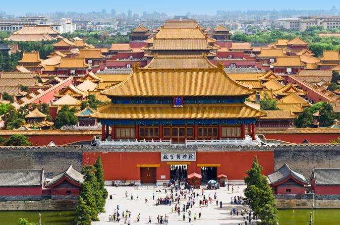 Excursão privada à imperial Pequim: Cidade Proibida, Praça de Tiananmen e Parque Jingshan com almoço