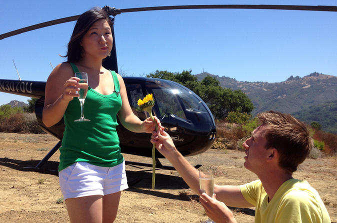 California Los Angeles Sightseeing Tour by Helicopter with Mountaintop Landing and Champagne Toast United States, North America