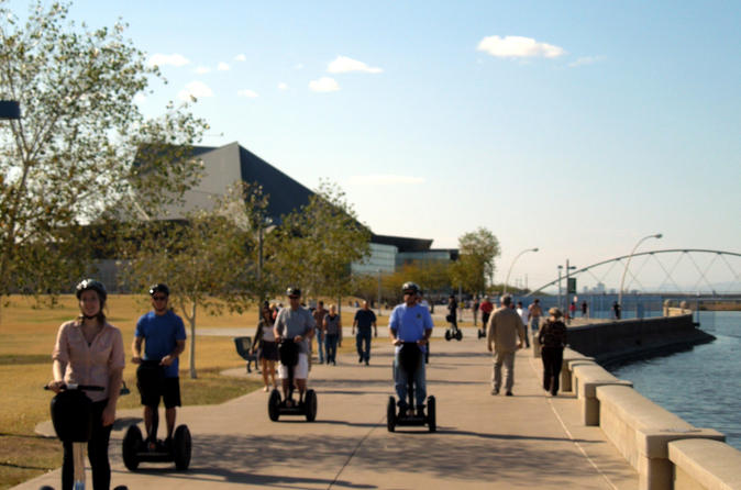Segway tour of tempe town lake in arizona in phoenix 111099
