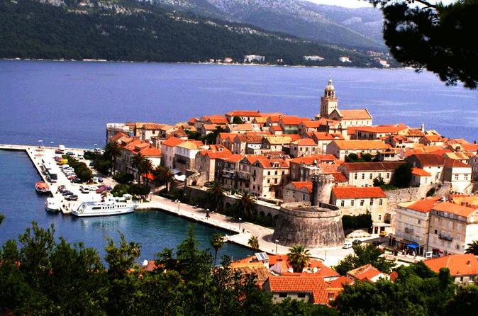 Viagem diurna pela ilha Ston e Korcula saindo de Dubrovnik com degustação de vinhos