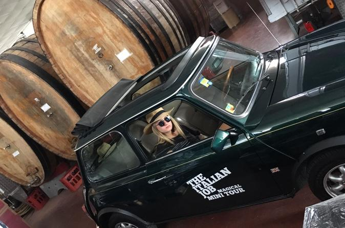 Winery&Ancient Highlights Tour in Mini Cabriolet in Roman Castle with wine testing and lunch