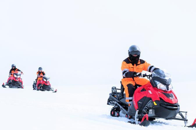 Small Group Super Jeep Tour: Golden Circle & Glacier Snowmobiling