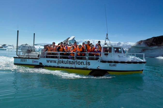 South Coast Day Trip, Glacier Hike in Vatnajokull National Park and Glacier Lagoon Boat Ride from Reykjavik