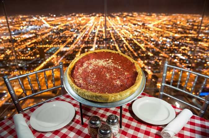 Jantar no Skydeck da Willis Tower