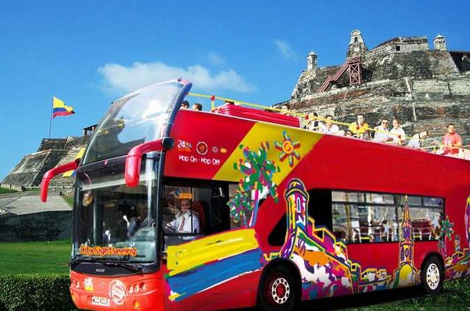 Excursão turística pela cidade de Cartagena em ônibus panorâmico