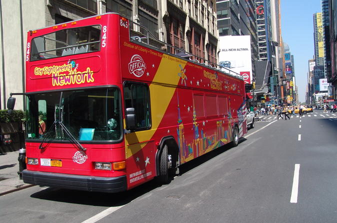 Hoppa på/hoppa av-rundtur i New York med City Sightseeing