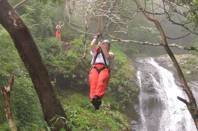 Mega Waterfall Zipline Tour from San Jose