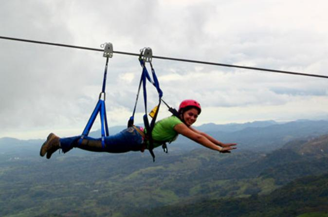 Superman zipline course at adventure park costa rica in jaco 120204