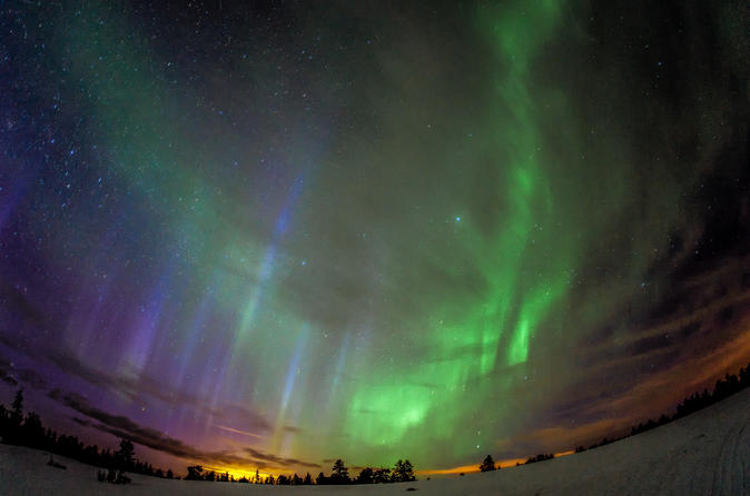 Northern Lights Snowmobile Sleigh Ride From Kemi