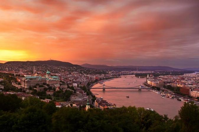 Sunset Helicopter Flight In Budapest