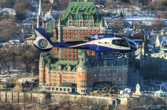 Quebec shore excursion city helicopter tour in quebec city 123955