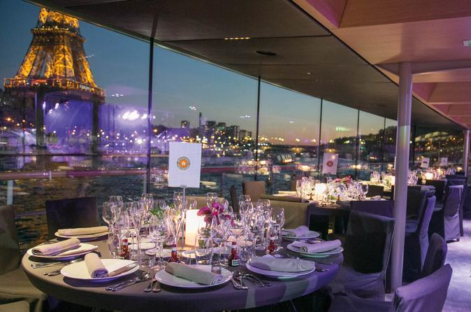 Bateaux Parisiens Seine River Christmas Cruise with 5-Course Dinner or Lunch