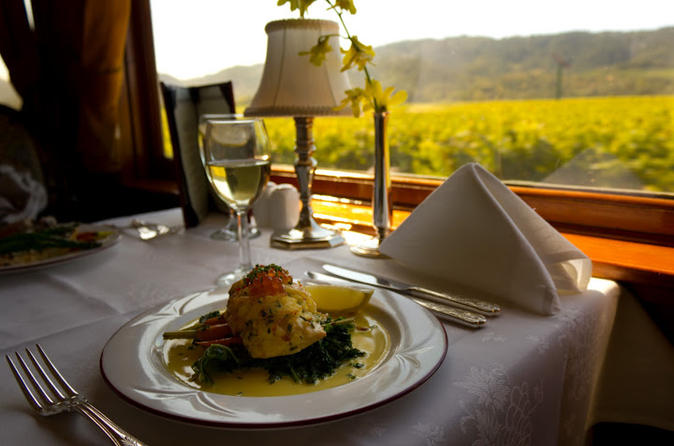Napa valley wine train with gourmet lunch with prices for A new napa cuisine