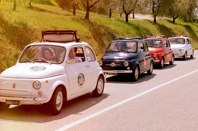 Fiat 500 tour of the chianti roads from san gimignano in san gimignano 289483