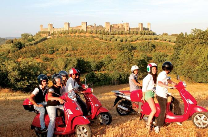Siena vespa tour including lunch at a chianti winery in siena 128991