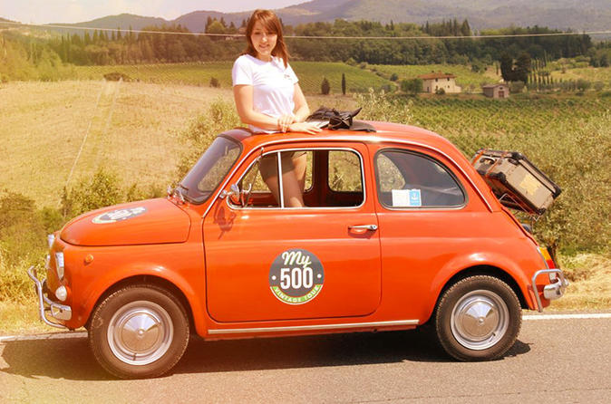 Vintage fiat 500 panoramic tour of florence from montecatini in florence 288710