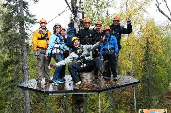 Talkeetna Zipline Adventure from Anchorage