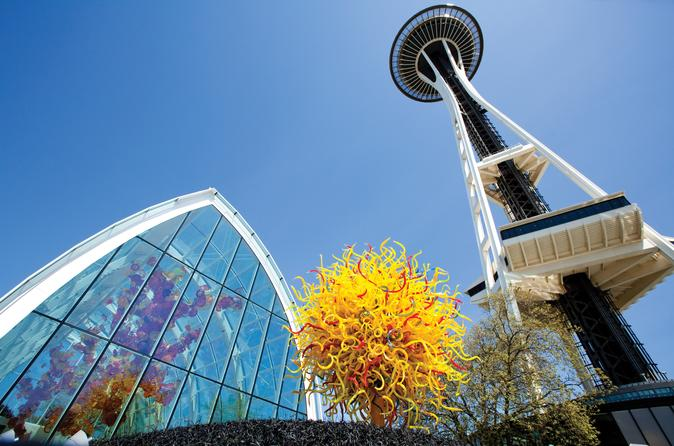 Space Needle And Chihuly Garden And Glass Combination