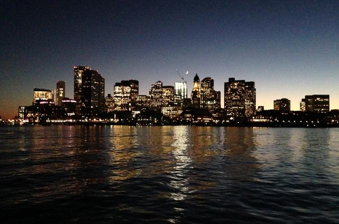 City Lights and Boston Skyline Harbor Sail