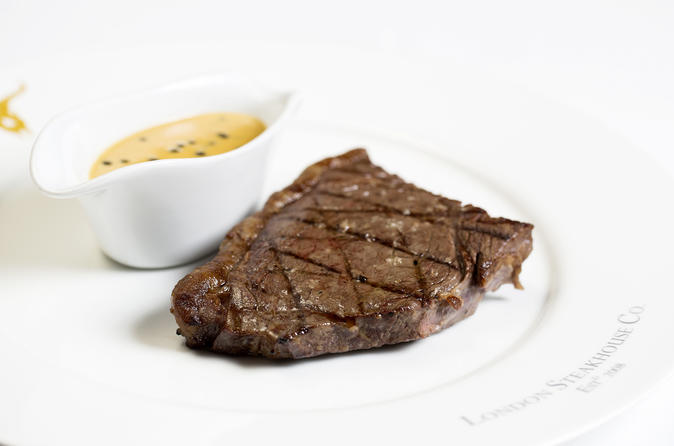 Three Course Dining Experience with Sides and Cocktail for Two at London Steakhouse Co
