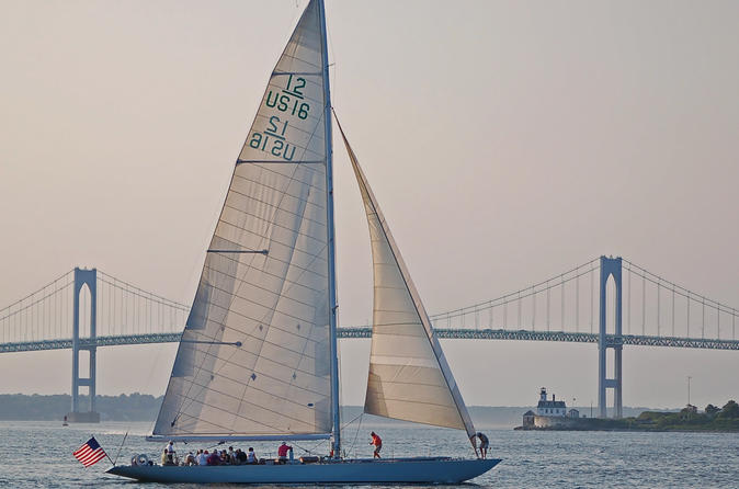 2 hour newport harbor sail aboard former america s cup yacht in newport 138187