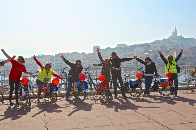 Excursão terrestre por Marselha: Excursão de bicicleta elétrica particular