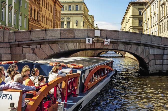 Visa-Free Tour of St Petersburg with Boat Trip & Free Time