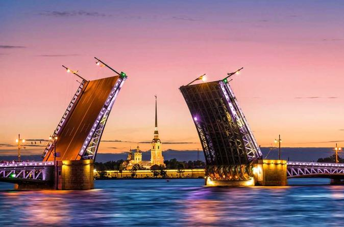 White Nights Shore Excursion - Drawbridges From Boat Cruise - Saint Petersburg