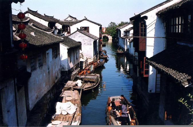 Excursão diurna privada para as Vilas Suzhou e Zhouzhuang incluindo o Jardim do Administrador Humilde saindo de Xangai