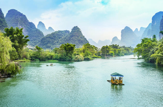 Private Day Trip to Guilin Li River Cruise and Reed Flute Cave from Shanghai by Flight