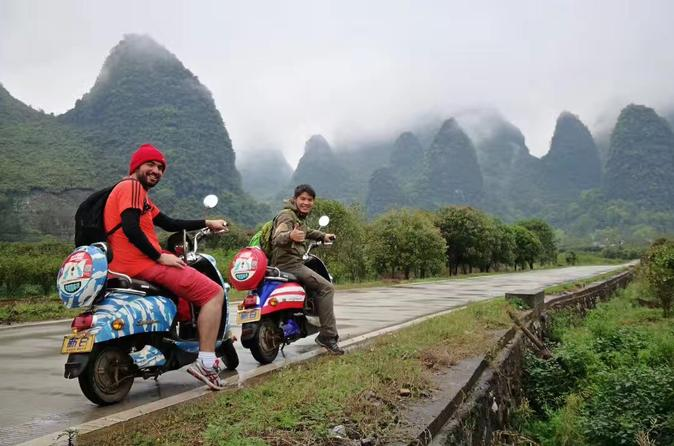 Private Yangshuo Day Adventure by Air from Shanghai with Electric Motorbike Experience