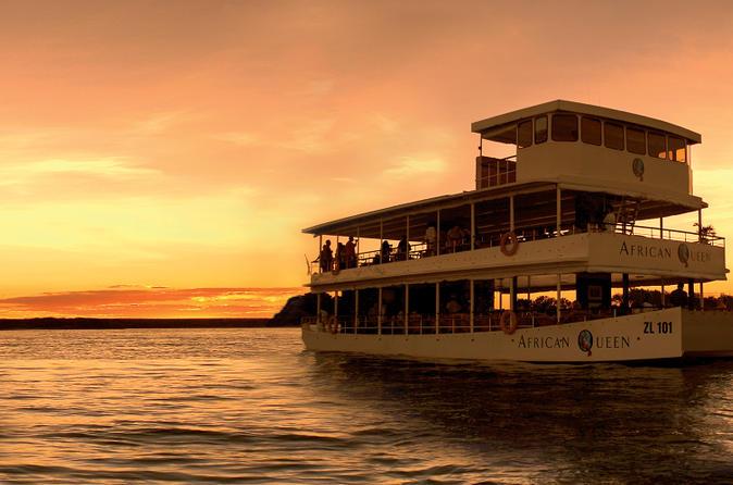 Sunset Zambezi River Cruise from Livingstone