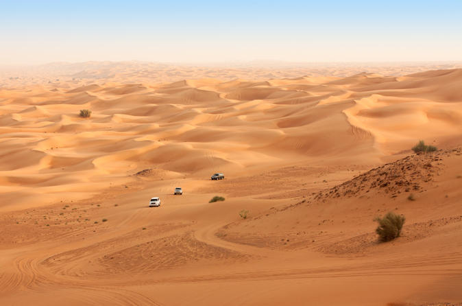 Dubai Desert 4x4 Safari with Quad Ride, Camel Ride, BBQ Dinner and Belly Dancing