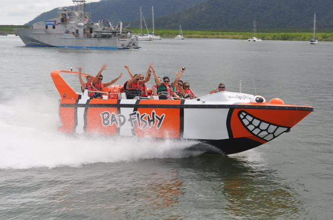 Cairns Combo: Trinity Inlet Jet Boating and Kuranda Rainforest Night Adventure Tour