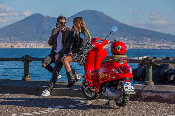 Audioguided Vespa Tour of Naples - Opt C (Vespa with driver)