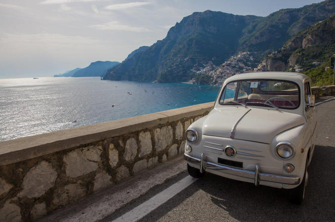 Private Tour: Amalfi Coast by Vintage Fiat 500 or Fiat 600 from Sorrento