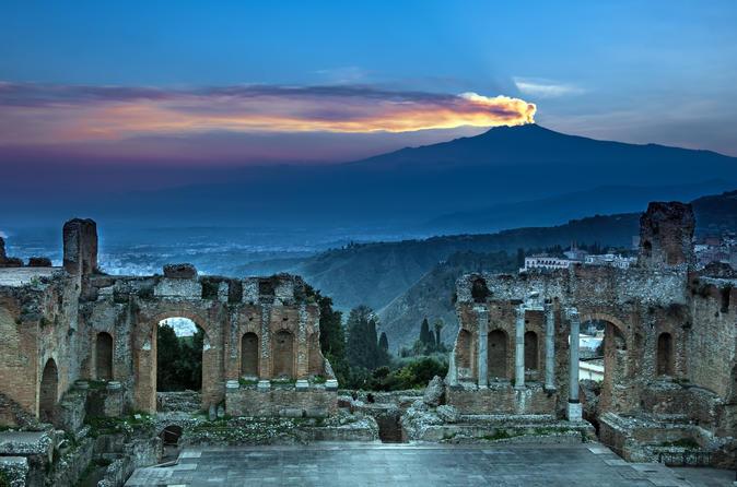 Excursão de 5 dias ao leste da Sicília, de Palermo a Taormina: Monte Etna, Siracusa e Agrigento