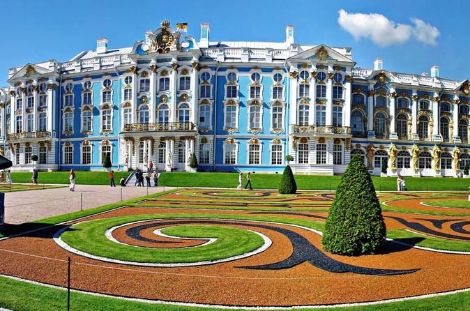 Tour of Pushkin Catherine Palace and Peterhof Grand Palace (Visas Included)