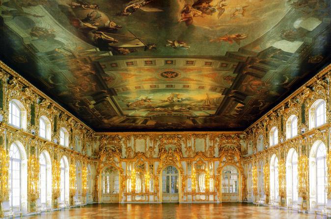 Tour of Pushkin (Tsarskoye Selo) and Catherine Palace (Amber room)