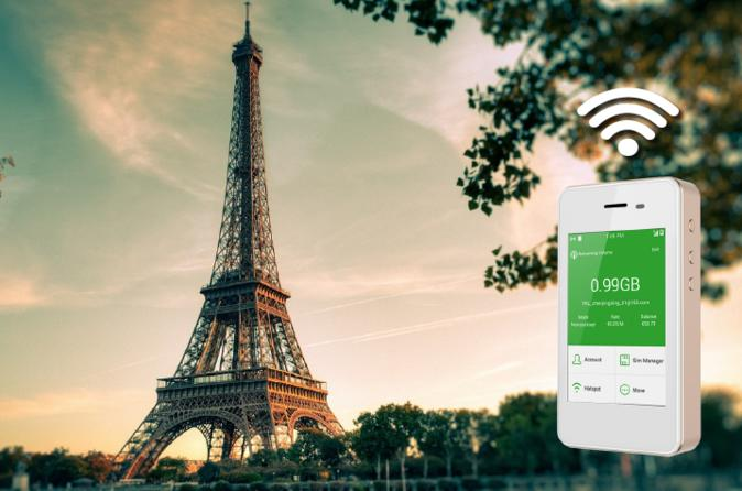 4G LTE Pocket WiFi Rental, Internet Connection in Paris - pick up at LAX