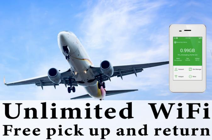 Unlimited WiFi In Los Angeles USA, pick up at LAX  Airport